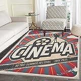 Vintage Area Rug Carpet Retro Cinema Movie Vintage Paper Texture Hollywood Stars Theme Image Print Living Dining Room Bedroom Hallway Office Carpet 3'x4' Ecru Brown Red Gray
