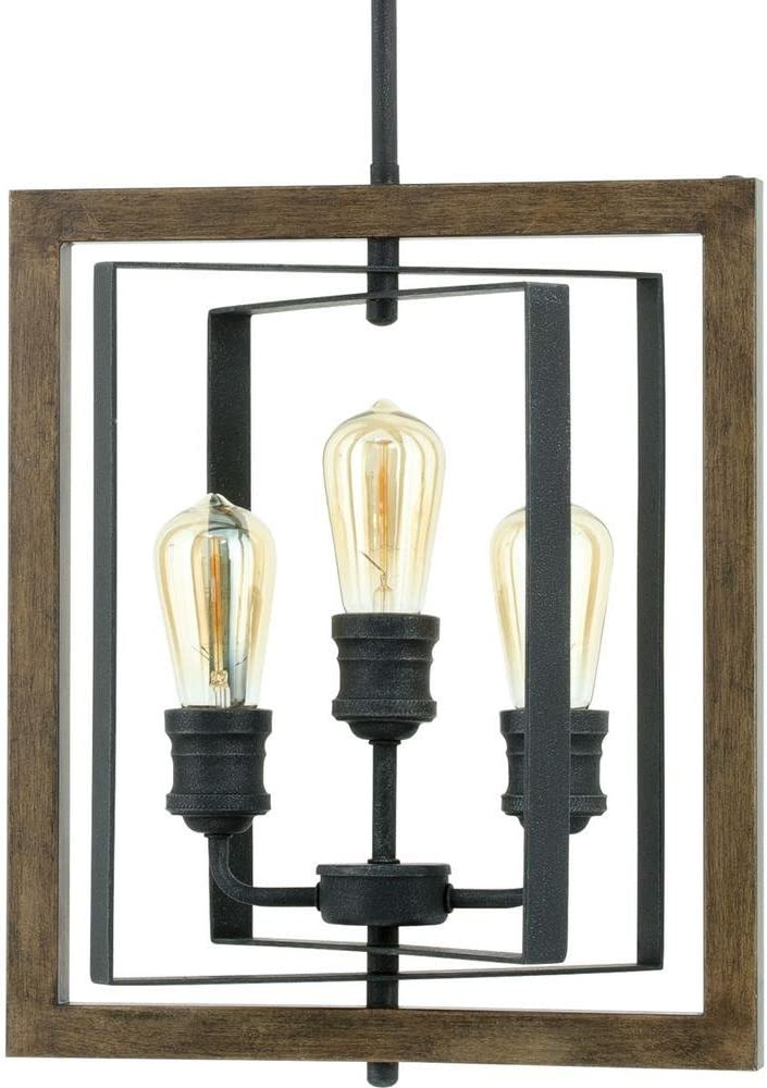 HomeDecorators Collection7921HCD Palermo GroveCollection3-LightGildedIronPendant