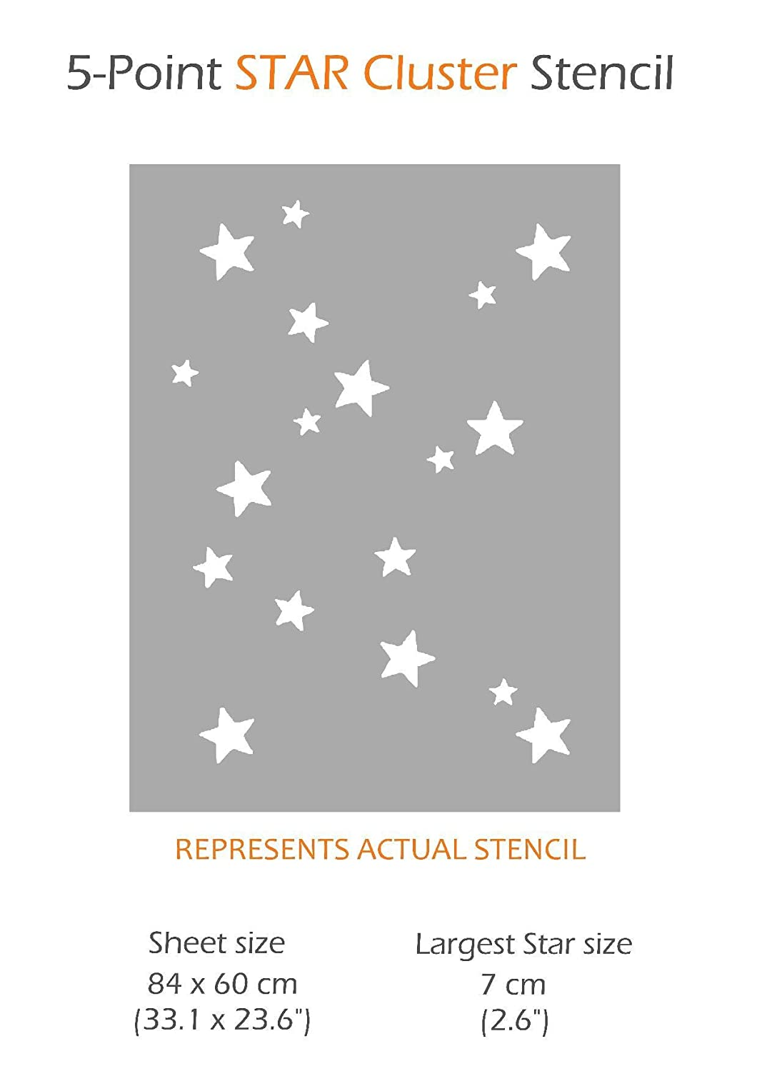 5-POINT STAR CLUSTER Wall Stencil for Painting - - Amazon.com