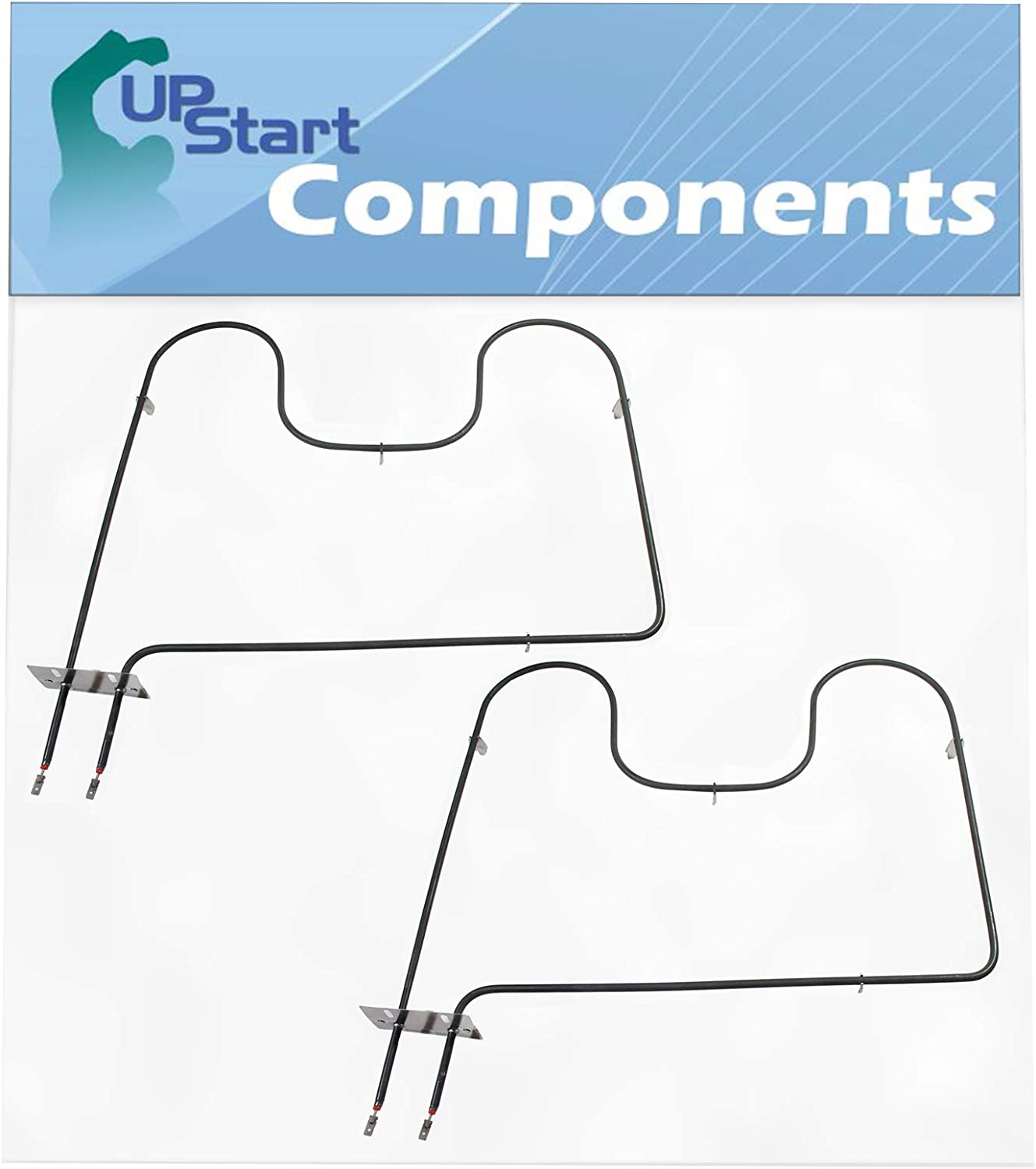 2-Pack 7406P428-60 Oven Heating Element Replacement for Maytag MER6755AAS - Compatible with WP7406P428-60 Bake Element