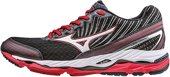 Mizuno Wave Paradox 2 - Zapatillas de running Hombre, Negro (Black/White/Chinese Red), 14 UK (50 EU): Amazon.es: Zapatos y complementos