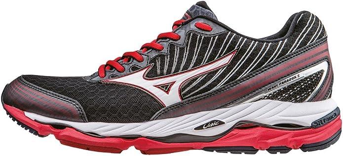 Mizuno Wave Paradox 2 - Zapatillas de running Hombre, Negro (Black/White/Chinese Red), 14 UK (50 EU): Amazon.es: Zapatos y complementos