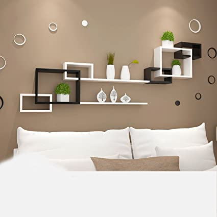 Beau Hyun Times Black And White Box Racks Living Room Background Wall Wall  Partitions Bedroom Bedroom Shelves