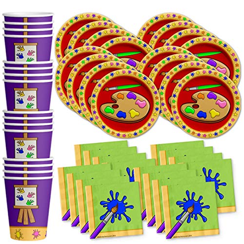 Artist Painting Birthday Party Supplies Set Plates Napkins Cups Art Tableware Kit for 16 by Birthday Galore ()