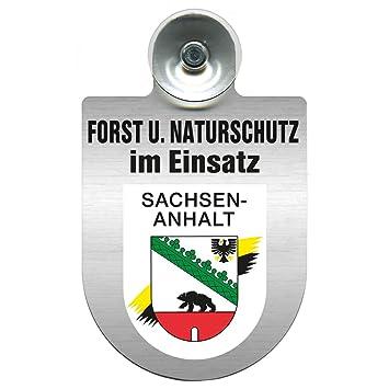 Regionenwappen nach Wahl Farbe Region Baden Einsatzschild mit Saugnapf Forst u Naturschutz im Einsatz 393813 incl