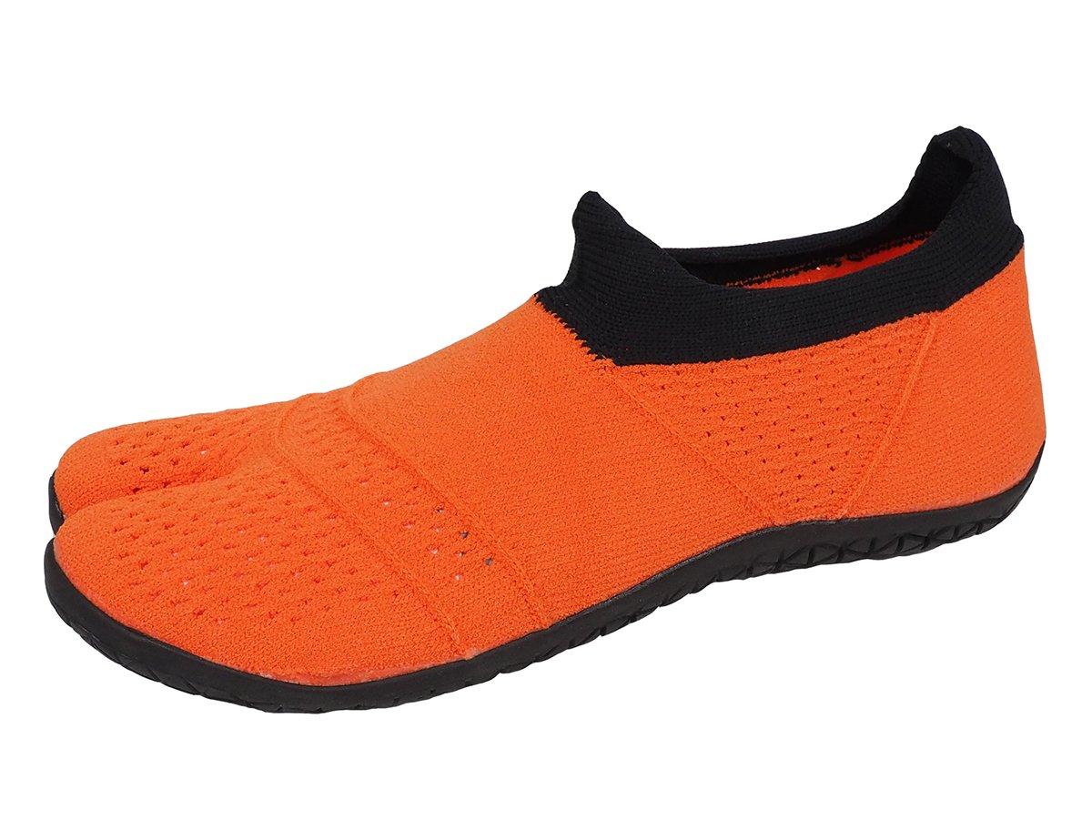 MARUGO 丸五 日本製 スニーカー 足袋 メンズ レディース hitoe ヒトエ スポーツ B077TTN9NQ 22.5 cm オレンジ
