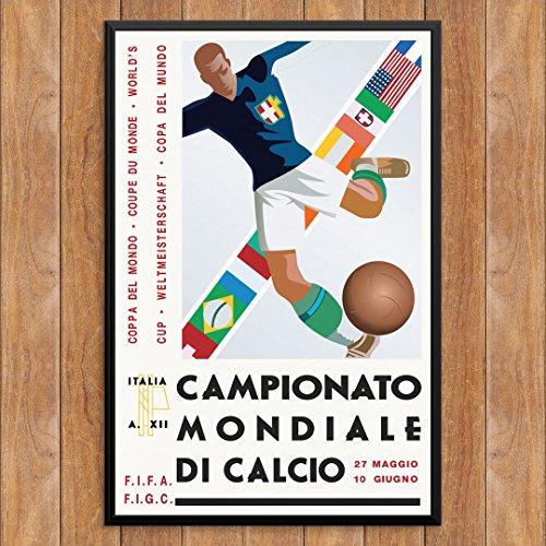 Price comparison product image Fridgedoor Vintage Italian Soccer Poster 12 x 18 Print