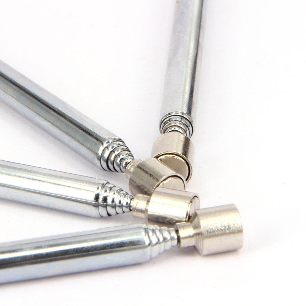/Argent PURATEN r/églable t/élescopique magn/étique Pick Up outils Stylo r/étractable enroulement 12 49/cm/