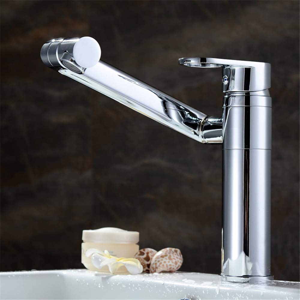 A Decorry Full Copper Bathroom Faucet Tap Hole Basin Faucet Hot and Cold Taps redate Basin