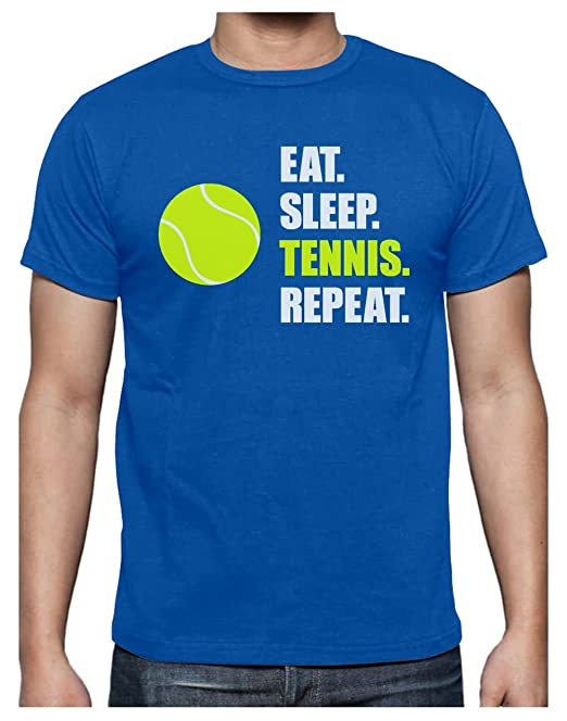 Green Turtle T-Shirts Camiseta para Hombre - Eat Sleep Tennis Repeat - Regalo Original para Jugadores de Tenis o Aficionados: Amazon.es: Ropa y accesorios