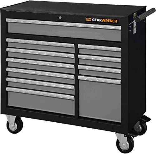 GEARWRENCH 42 11 Drawer XL Series Black Silver Roller Cabinet – 83157
