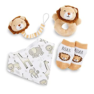 Carter/'s Baby 3 Pack Receiving Blanket and Rattle Set