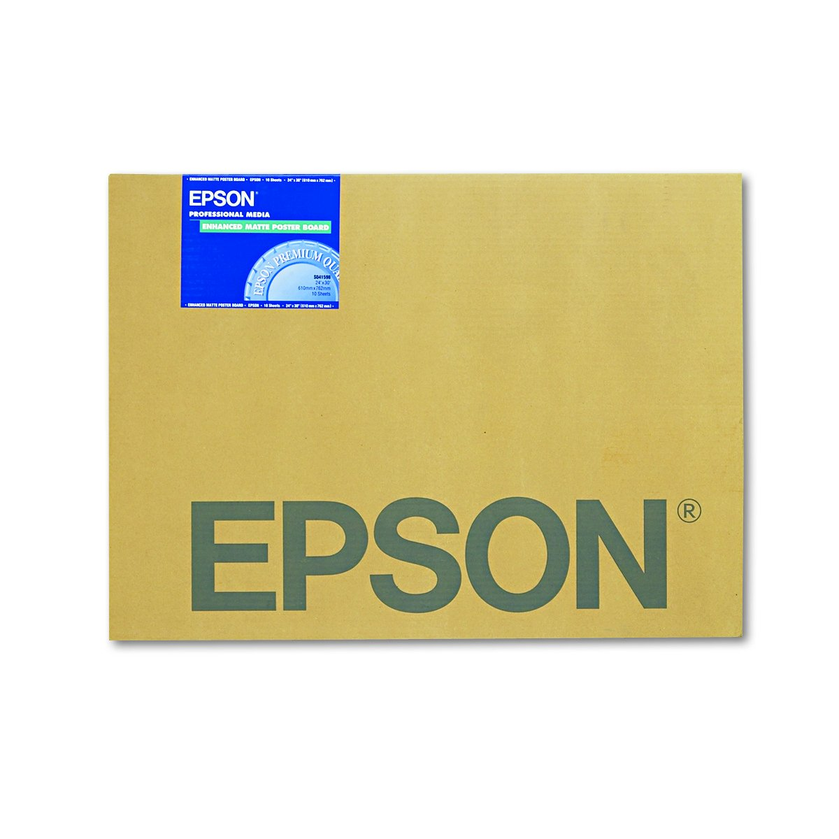 Epson S041598 Enhanced Matte Posterboard, 30 x 24, White (Pack of 10) by Epson