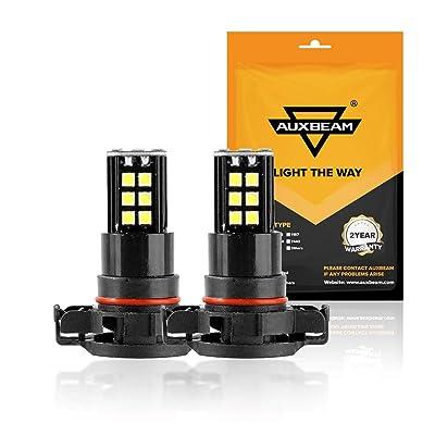 Auxbeam 5201 5202 LED Fog Light Bulbs 6000K 800 Lumens 30W H16 LED Bulb 3030 30-SMD Chips 12V LED 5202 Bulb High Power Xenon White (Set of 2): Automotive