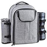 Forbidden Road Picnic Backpack with Blanket