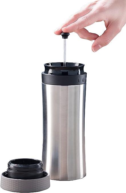 Rosenstein & Söhne – Taza de café to go: 2 in1 de termo de acero ...