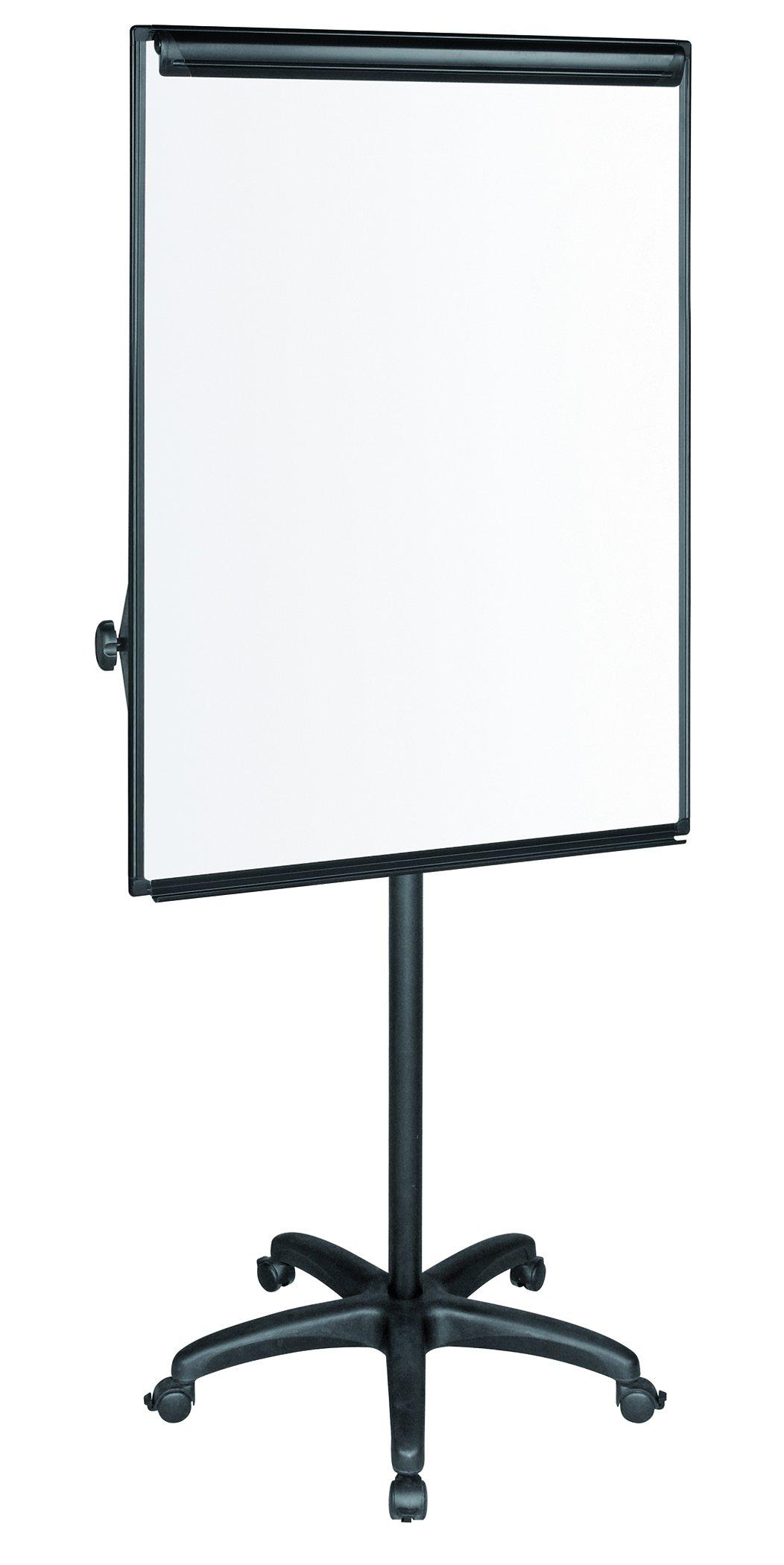 MasterVision Mobile Easel, 27.5'' x 39'' Dry Erase Board, Presentation Easel with Black Frame and Base