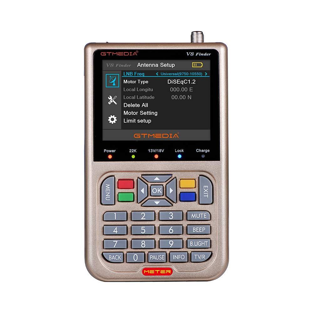 JUSHENG Newest GTMEDIA V8 Finder Digital Satellite TV Signal Finder Meter (V-73HD) DVB-S2 FTA LNB Signal Meter Pointer Satellite TV Receiver Tool with 3.5' LCD by JUSHENG (Image #3)
