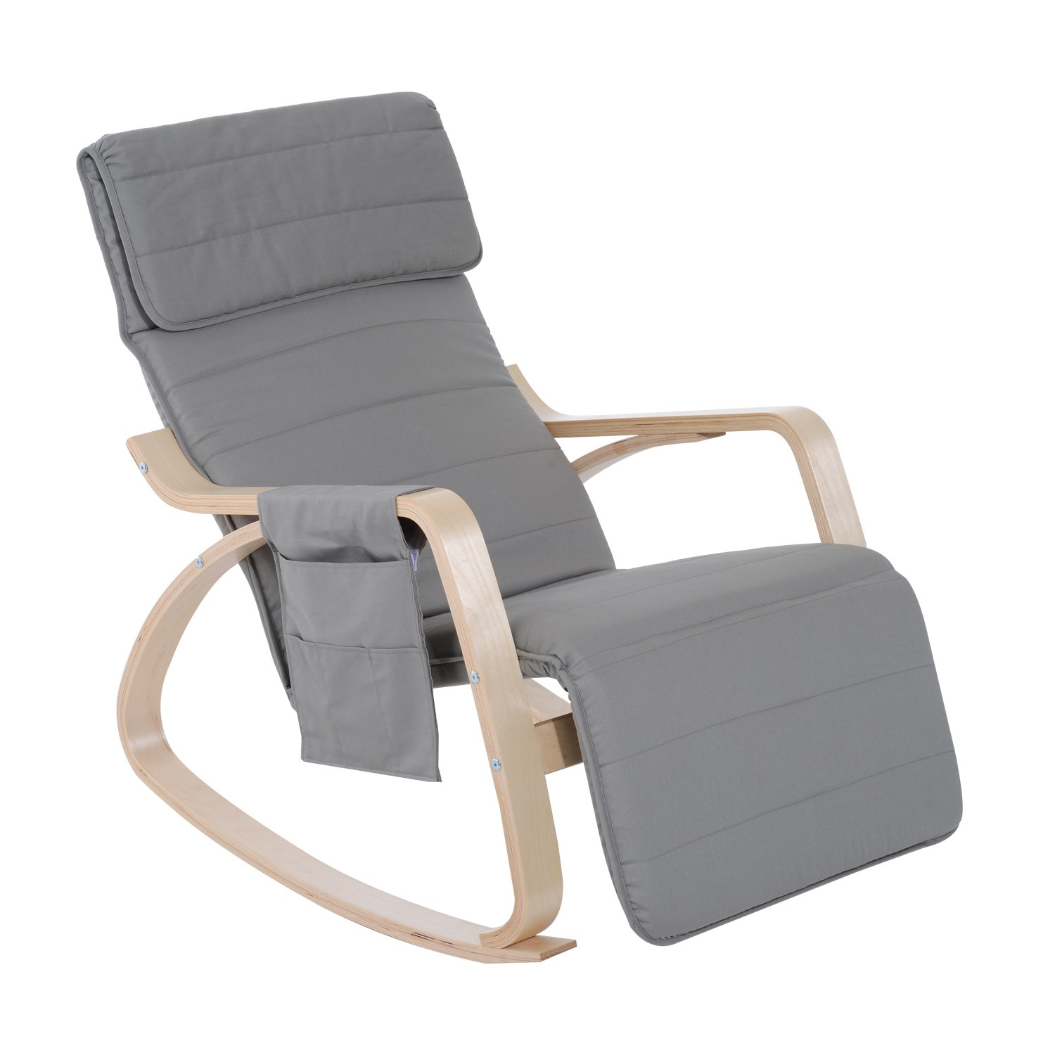 SoBuy New Relax Rocking Chair Lounge Chair with Adjustable