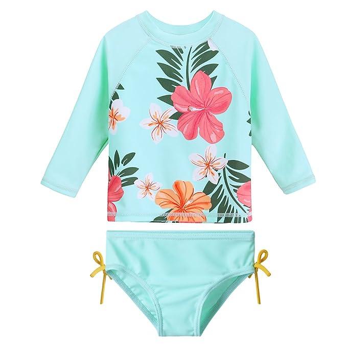 Amazon.com: HUANQIUE - Bañador para bebé y niña con diseño ...