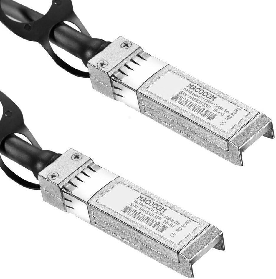 Macocom for Cisco SFP-H10GB-CU3M 10 Gigabit Ethernet SFP Copper Twinax Cable Passive 3m 9.9ft