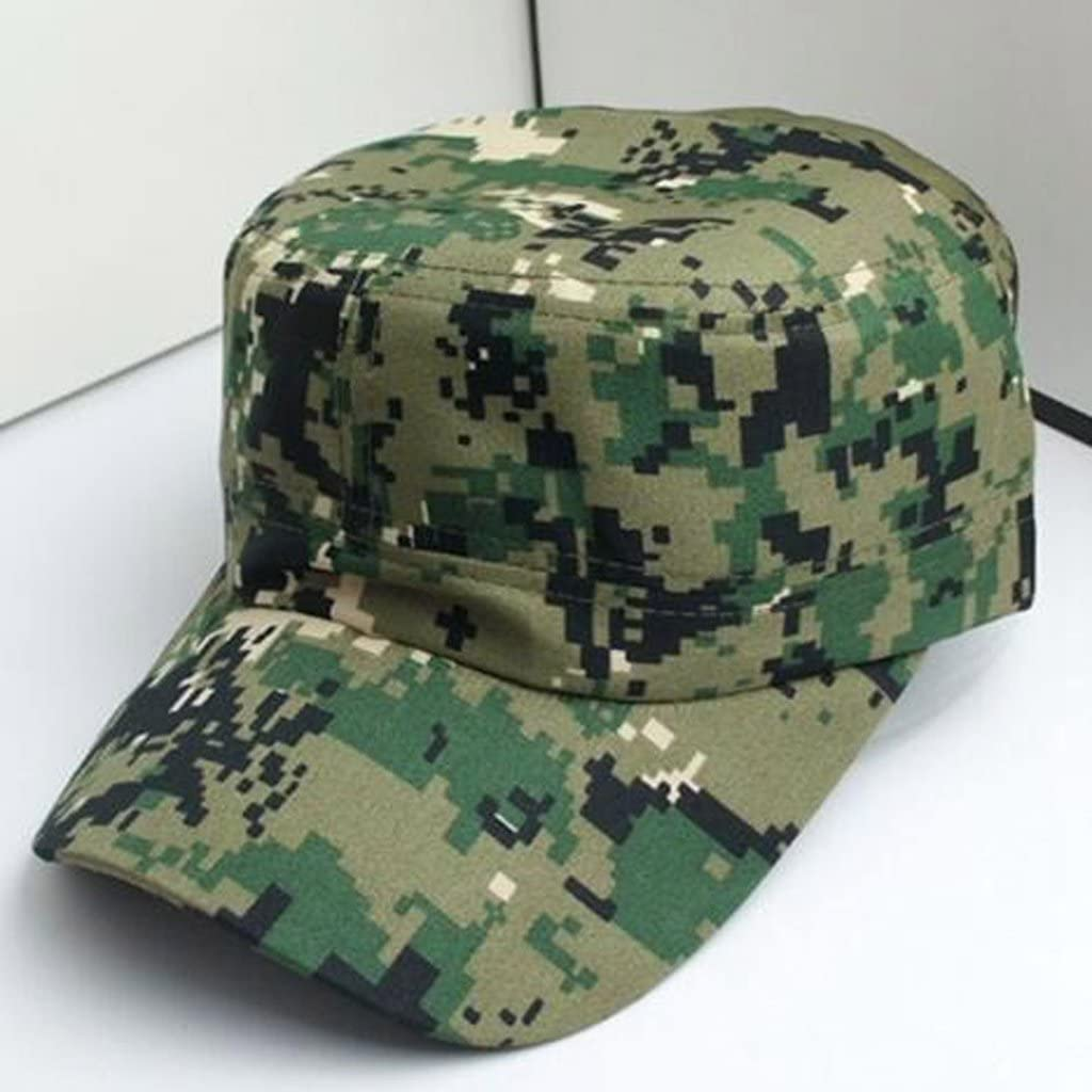 Cotton Army Cap Military Sun Hat Urban Men Lady Headwear with Red Star Camo