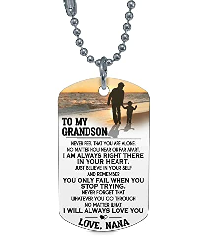45bb67c8c36 Amazon.com: to My Grandson, Never Feel That You are Alone.No Matter ...