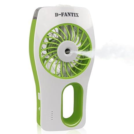 D FantiX Handheld Fan Battery Operated, Portable Water Misting Fan Personal  Mister Fan With