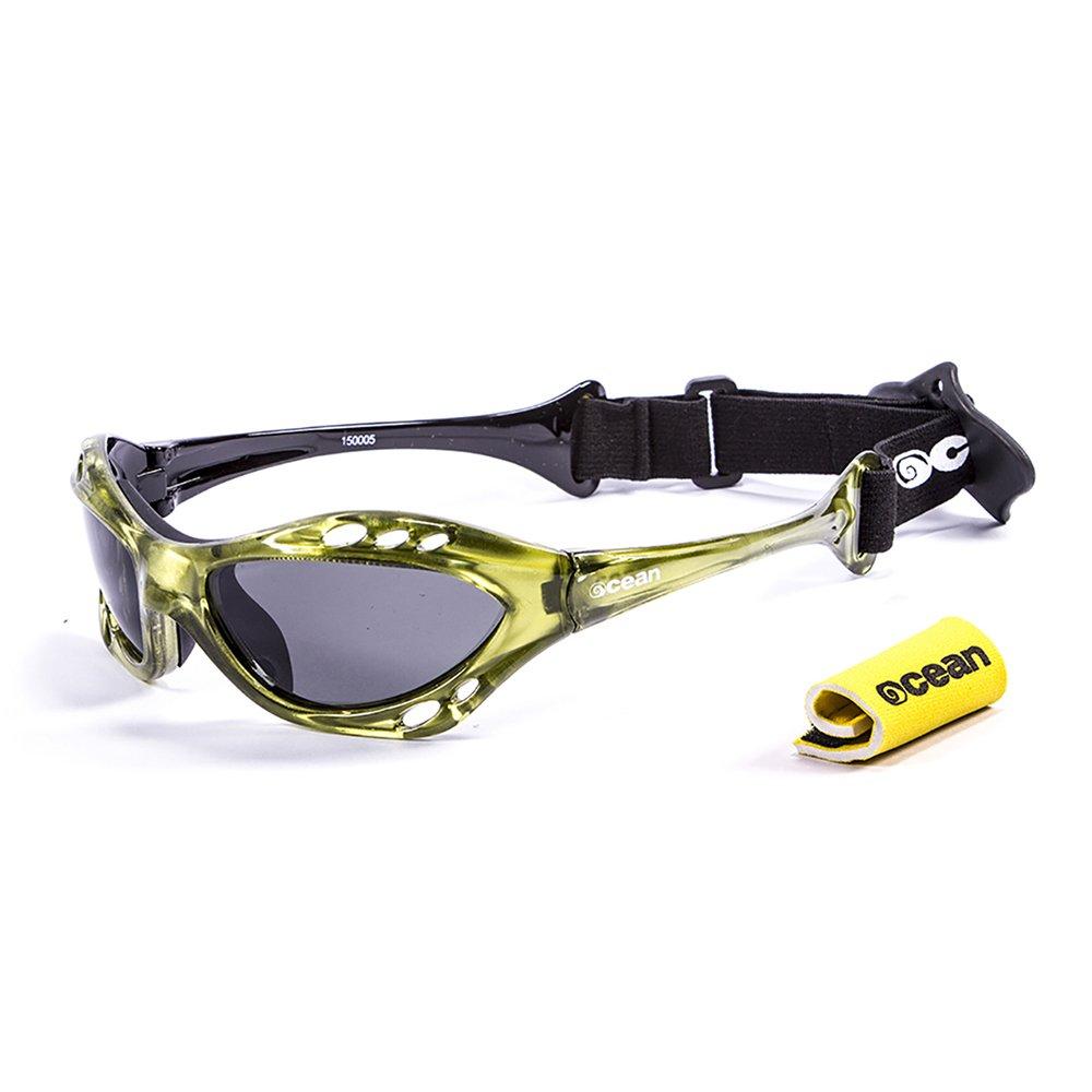 Ocean Sunglasses Cumbuco - lunettes de soleil polarisées - Monture : Jaune - Verres : Fumée (15000.5) LQQ7zfR