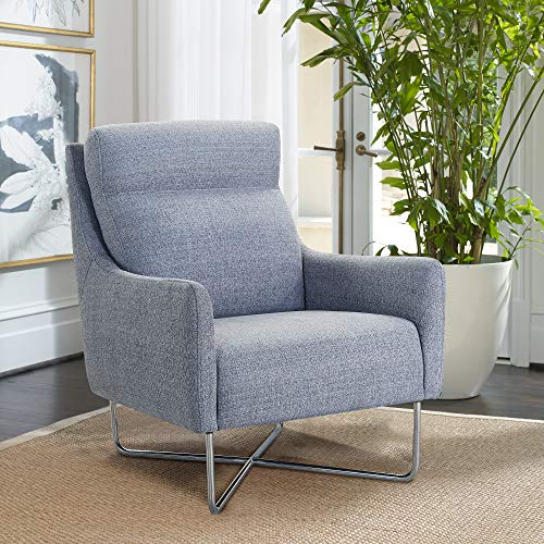 (Armen Living LCABCHGR Amber Accent Chair)