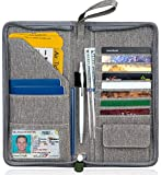 Passport Wallet - Family Passport Holder - Travel Wallet Women Men – Documents Organizer Case – Zipper Purse in Pouch for Passports and Credit Card - Compact Portable Slim Wallets