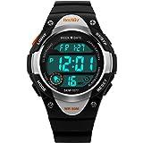 BesWLZ Sports Kids Backlight LED Digital Alarm Stopwatch Waterproof Wristwatch Children's Watches