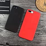 Dealetech iPhone Matte PC Thermal Sensor Case Color Changing Fluorescent Thermal Heat Induction Phone Back Cover for iphone 6 6s 6plus 6s plus 7 7plus (black iphone 6 6s plus)