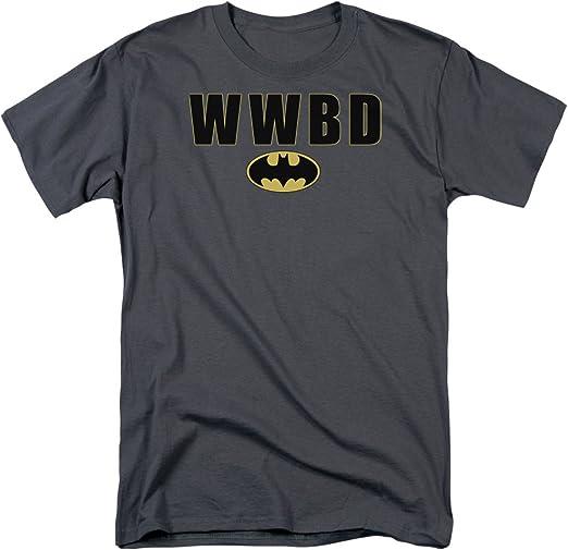 Batman Wwbd What Would Batman Do Logo DC Comics Licensed Adult T-Shirt