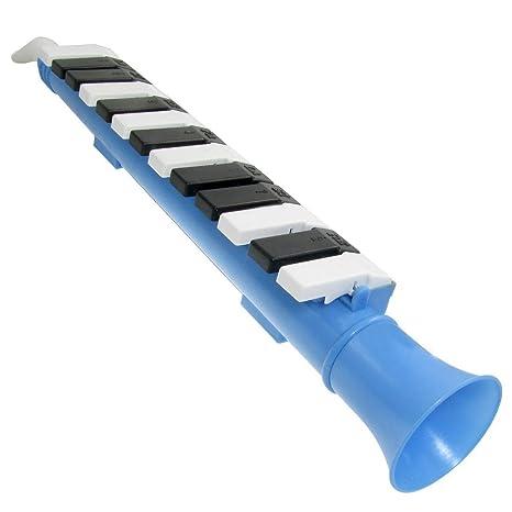 SODIAL(R) Melodica de nota de 13 teclas Azul Piano de viento portatil organo