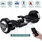 """Koowheel Off Road Hoverboard 7.5"""" All Terrain Hoverboard Bluetooth Speakers LED Lights,UL2272 Certified Two Wheel Self Balancing Scooter Adults Kids,App Enabled(12Km/h 220lbs Max)"""