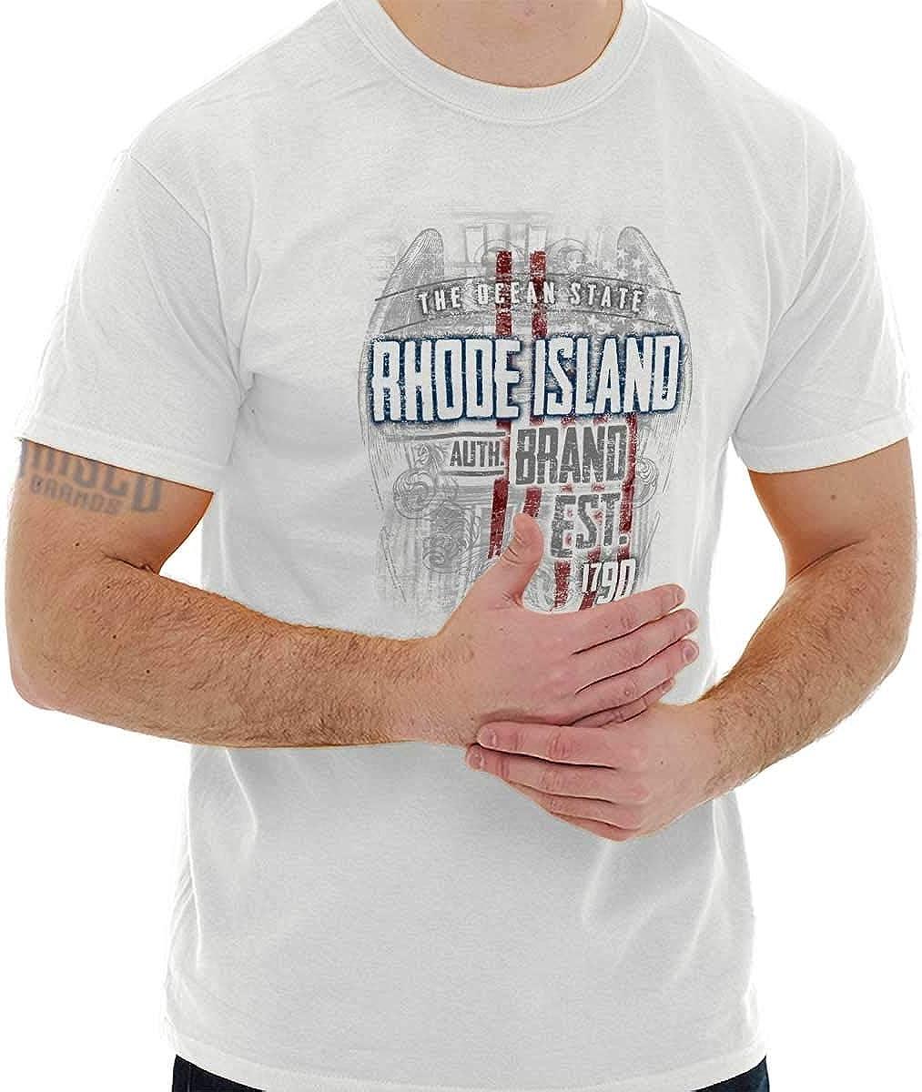 Classic teaze Rhode Island Estado Estados Unidos T Shirt Patriotic ...