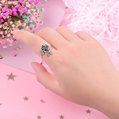 Free Amazon Promo Code 2020 for Rose Flower Ring 925 Sterling Silver