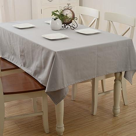 LU Süßigkeit-Farben-Baumwollhaushalt-Stab-Tischdecke-Staub-Persenning-Tuch-rechteckige Tischdecke ( farbe : Gray , größe : 60