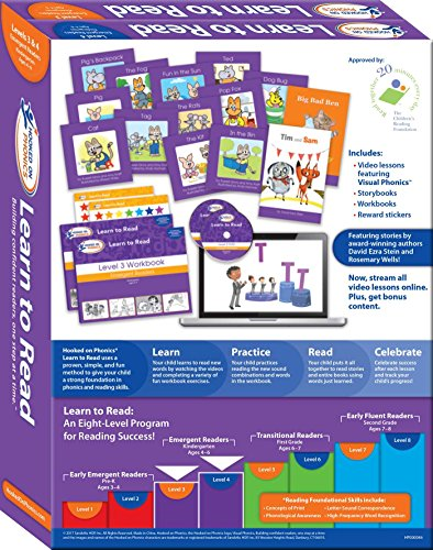 Hooked on Phonics Learn to Read - Levels 3&4 Complete: Emergent Readers (Kindergarten | Ages 4-6) (Learn to Read Complete Sets) by Hooked on Phonics (Image #1)