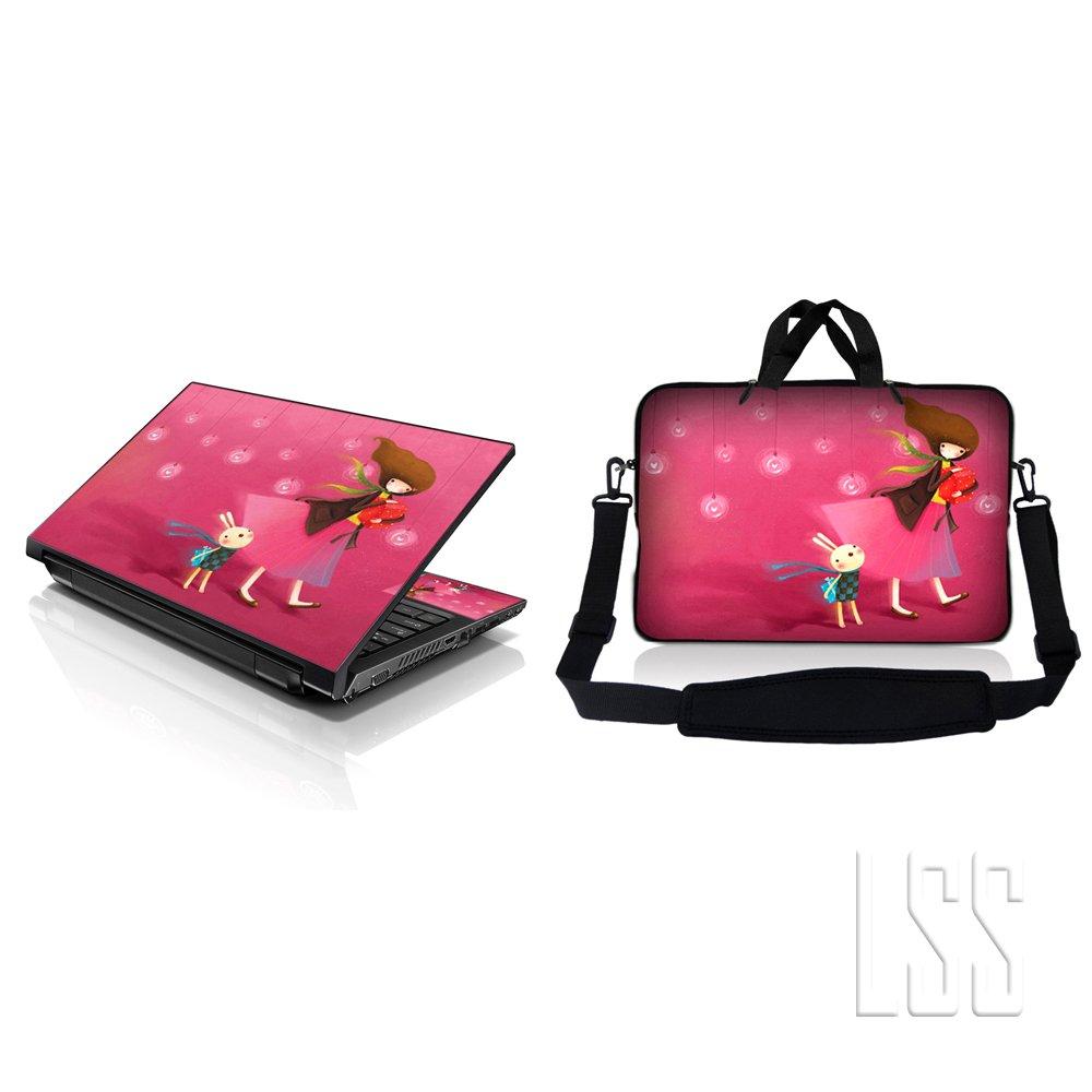 楽天 ノートパソコン& MacBook ProスリーブバッグキャリーケースW B00H0L7J6U/ハンドル&調節可能なショルダーストラップ& MatchingスキンステッカーFits