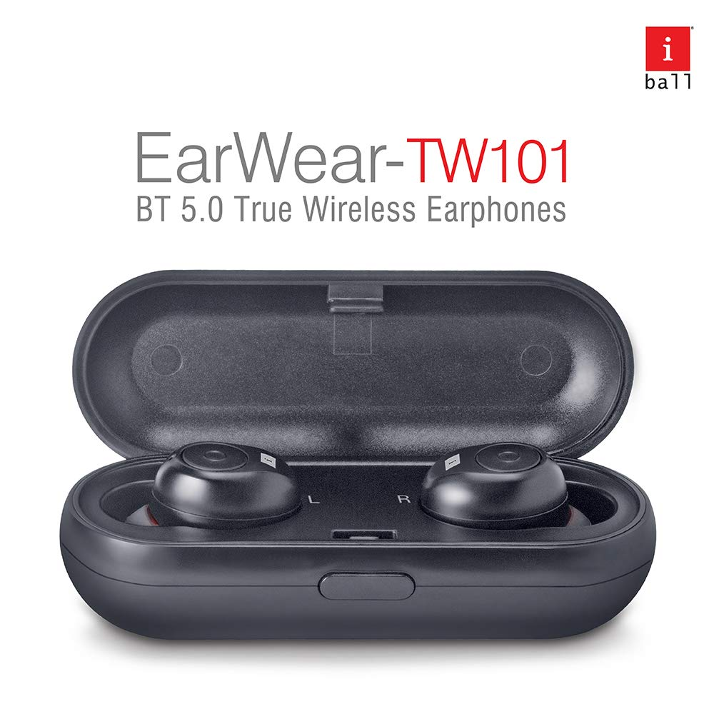 iBall Earwear TW101 Ear Bud with Protective Charging Cum Carry Case