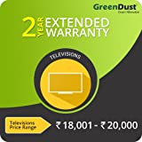 GreenDust Extended Warranty for TVs (Rs.18001 - 20000), 2 year-Delivery by Email