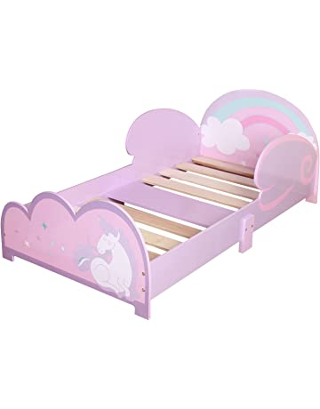 MEBLEX Children Toddler Bed for Kids White WITH DRAWERS /& Safety Foam Mattress 160x80cm Children Sleeping Bedroom Furniture with MDF Full Bed Frame with Built-in Headboard White//Sonoma, 160x80cm