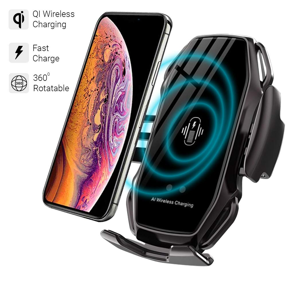 Galaxy S10// S9// S8 Plus ULTRICS Cargador Inal/ámbrico Coche Ajustable Soporte M/óvil para Coche Compatible con iPhone 11 Pro//XS MAX//XR//X// 8 Sensor Inteligente 10W Qi Carga R/ápida Wireless Charger
