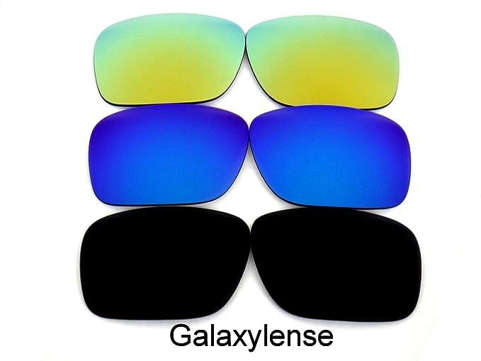 Galaxy Lentes De Repuesto Para Oakley Holbrook Polarizados negro, azul y dorado 3Pair - Transparente