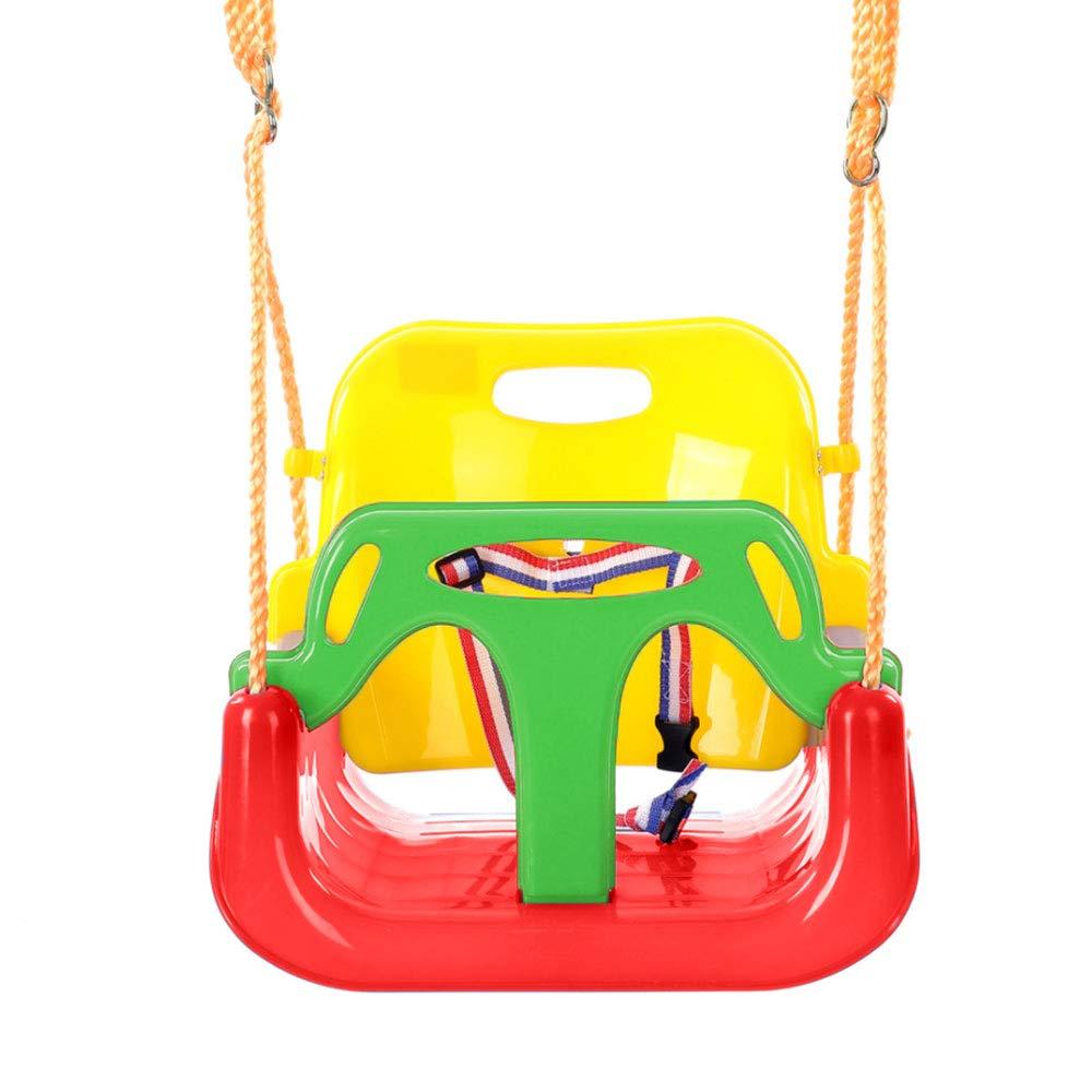 MHO Children's Swing, Swing Seats For Kids Outdoor Indoor Home 3 -in- 1 Toddler Swing,green