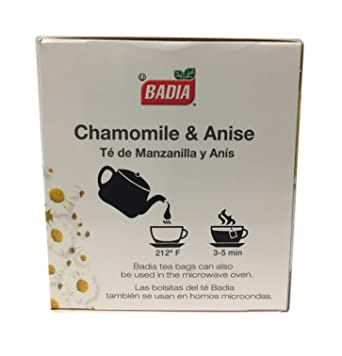 Amazon.com : 100 Bags Chamomile and with Anise Tea Digestive ...