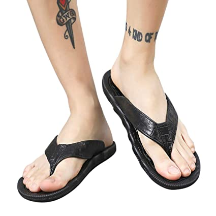 YJYdada Slippers, Casual Mens Personality Flats Durable Flip-Flops Antiskid Slippers Beach Shoes (