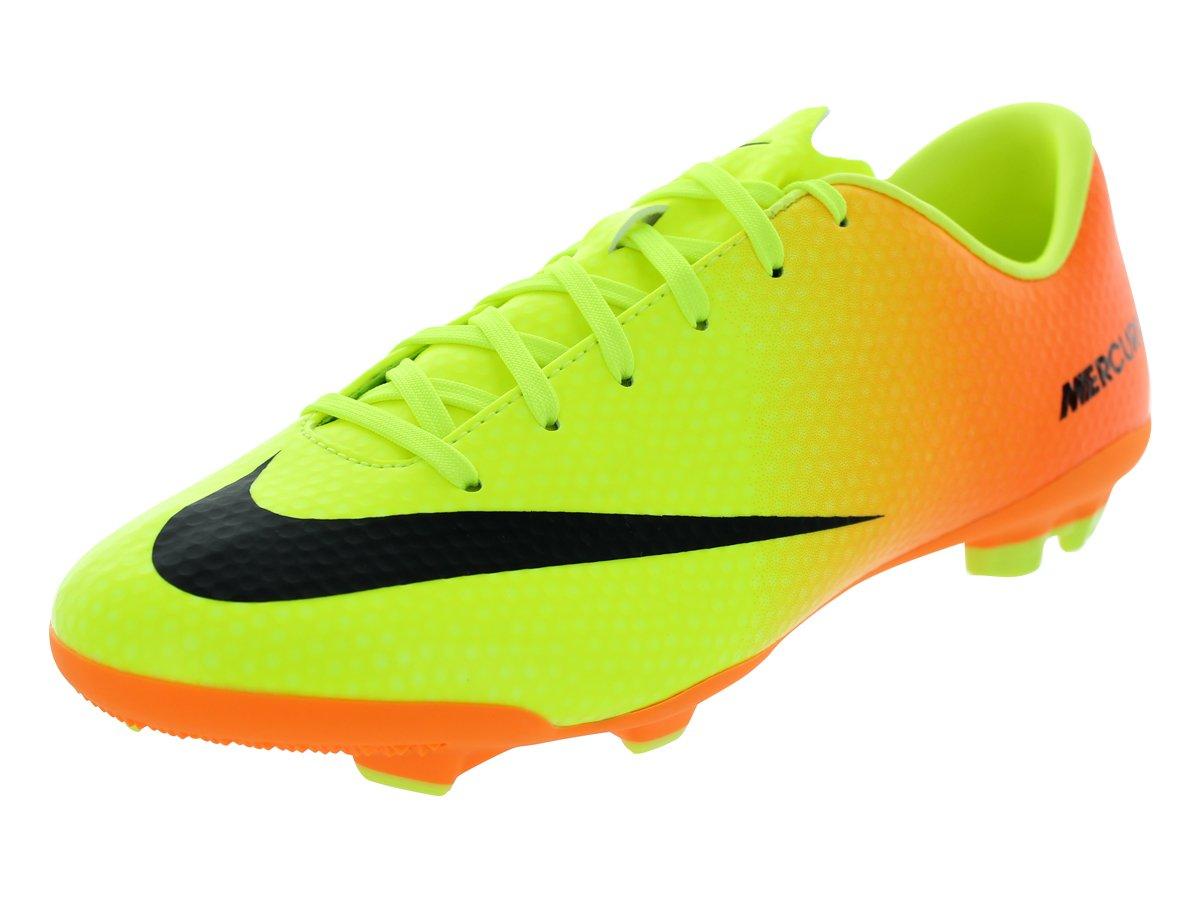 Nike JR Mercurial VELOCE FG VOLT BLACK-BRIGHT CITRUS, Größe Nike 1.5Y